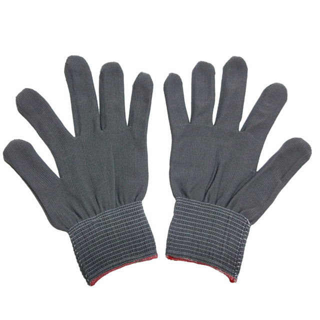 4pcs= 2 pairs White Black Nylon Antistatic Work Gloves Knit Working Gardening Lumbering Hand Safety Security Protector Grip 1