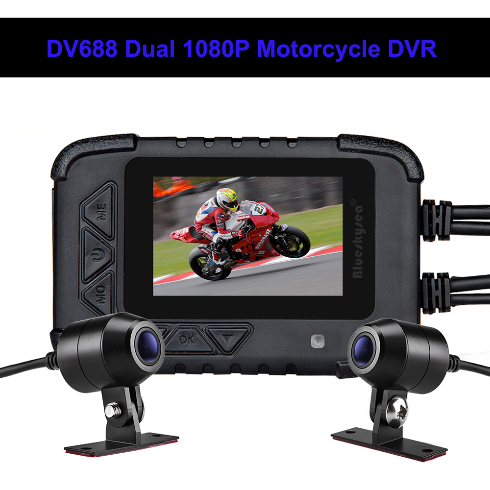 Blueskysea DV688 Motorcycle Dash Camera Waterproof 2.4