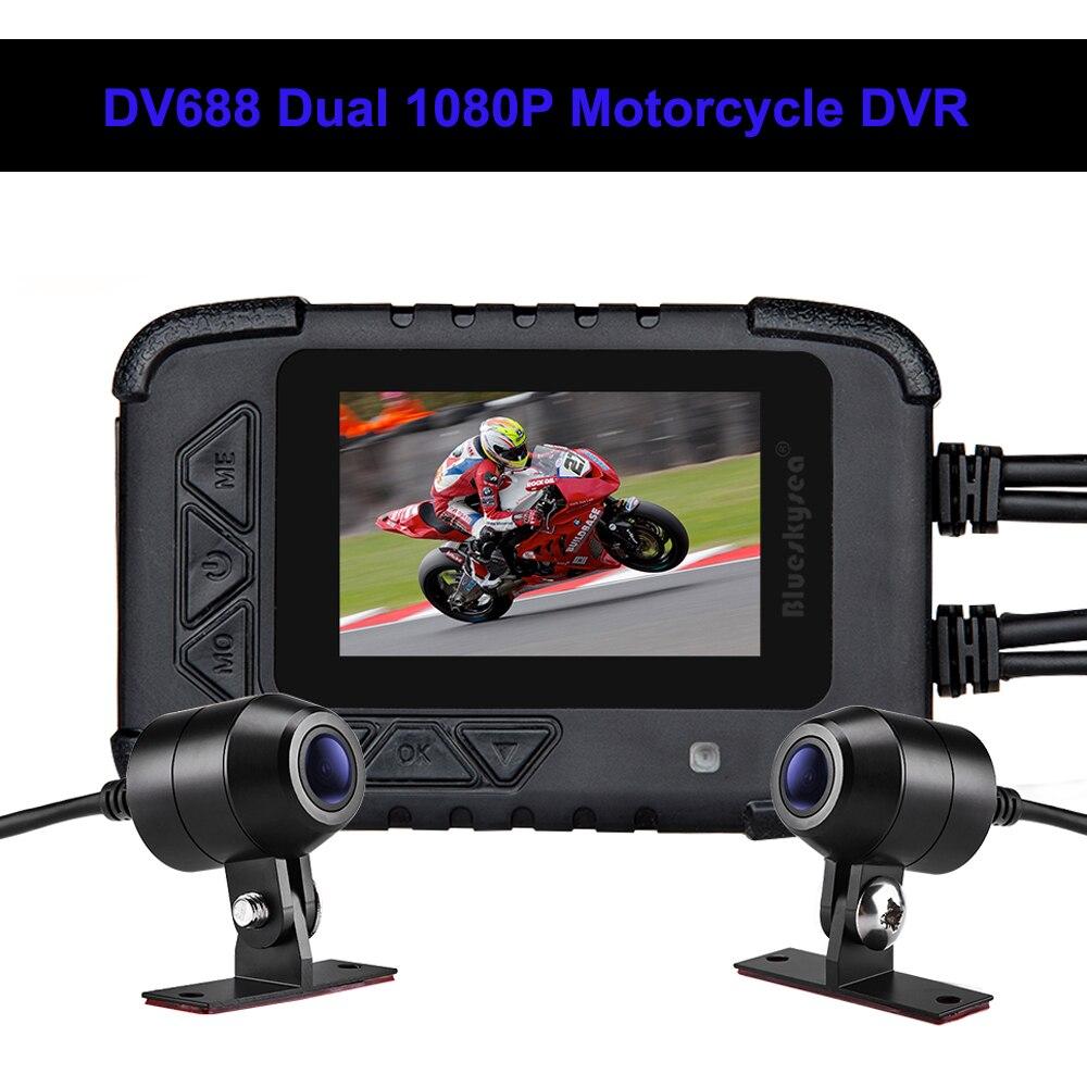 Blueskysea DV688 Moto Dash caméra étanche 2.4