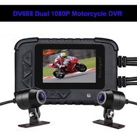 Blueskysea DV688 Motorcycle Dash Camera Waterproof 2.4 130° Dash Cam 1080P Moto GPS HD Dual DVR Camera Moto Mini DVRs Dashcam