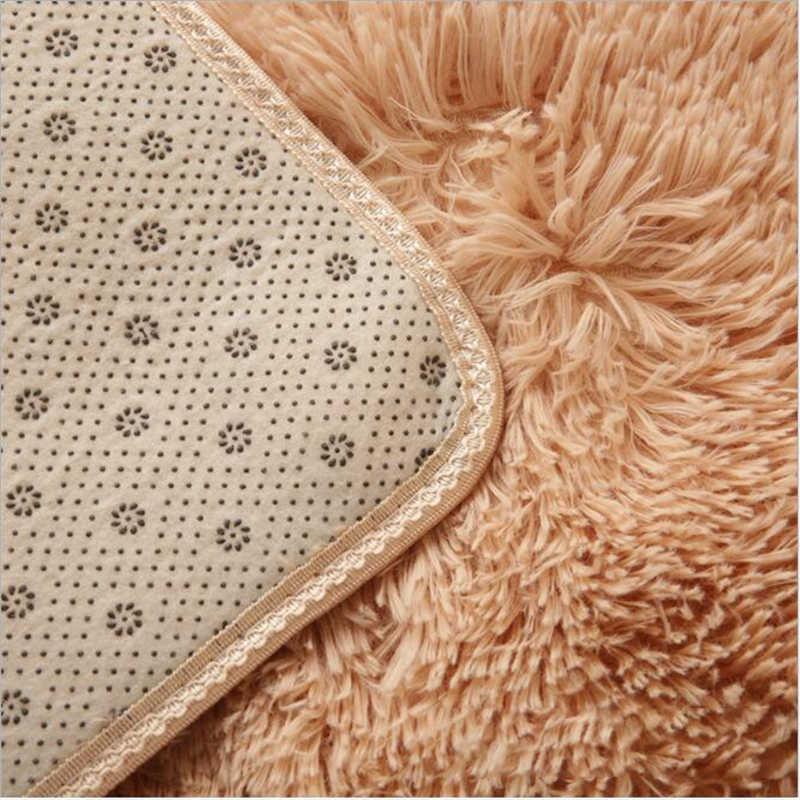 リビングルームカーペットエリア寝室毛皮のカーペットの寝室の敷物非スリップロング髪マット緑、白、ピンクグレー黒現代の家庭