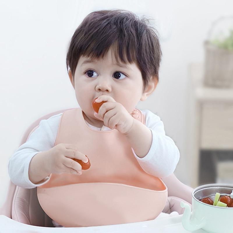 Bavoirs imperméables en silicone pour bébé