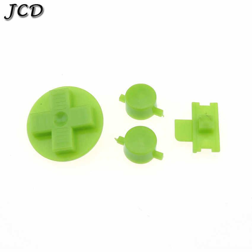 JCD 12 لون اختياري أسود واضح الجمارك لتقوم بها بنفسك أزرار مجموعة استبدال ل Gameboy الكلاسيكية ل GB DMG A B أزرار D-الوسادة زر