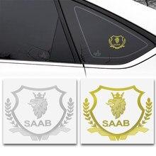 2 шт. 3D металлический автомобильный Стайлинг боковой двери значок наклейки сбоку эмблема на окно наклейки для SAAB 9-3 9-5 93 9000 900 9-7 600 99 9-X 97X
