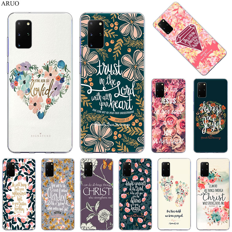 Phone Case For Samsung S20 Ultra S10 Lite S9 S8 Bible verse Philippians Jesus Christ Christian for Samsung Note 20 10 9 8 cover