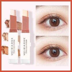 1 шт. Двойной градиент цвета бархатные макияж глаз тени для век палка Водонепроницаемый Shimmer Тени для век макияж TSLM1