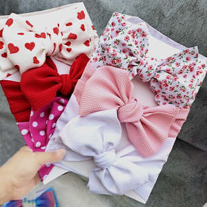 Baby Headbands Ribbon-Bow Nylonbow Large One-Size Fits Now Wide