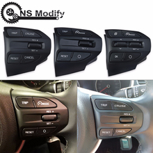 NS Modify Car Steering Wheel Button Bluetooth Phone Cruise Control VolumeSwitch For KIA K2 RIO 2017 2018 X LINE Buttons