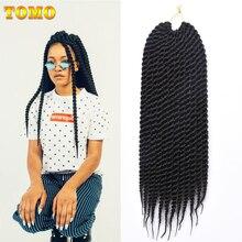 TOMO, 12 дюймов, 18 дюймов, вязанные крючком косички, Сенегальские, для детей, 12 корней/упаковка, Омбре, красные, вязанные крючком волосы, синтетические плетеные волосы для наращивания