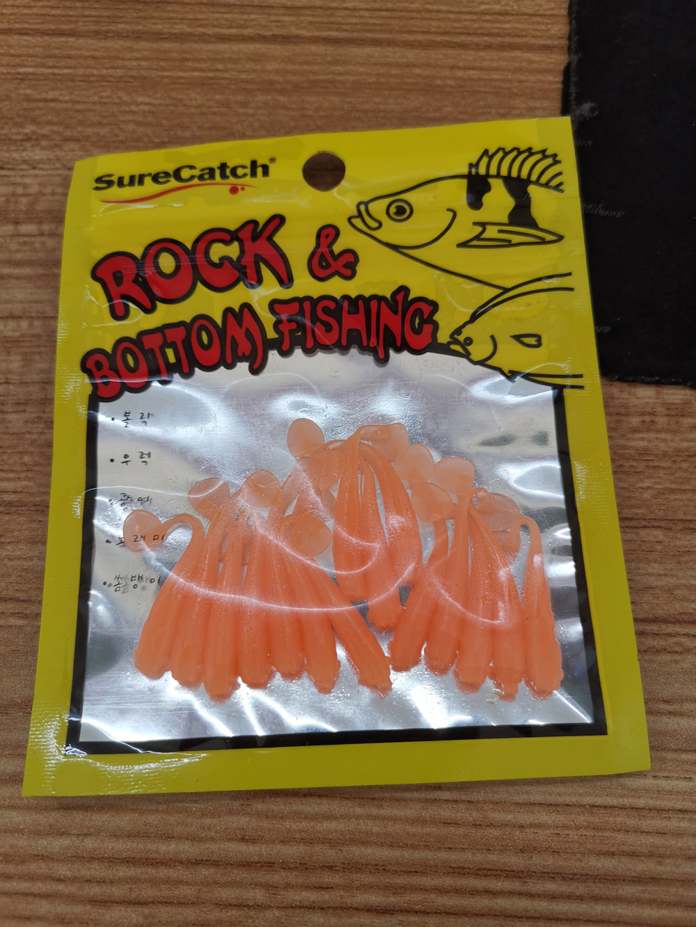 BassLegend - Soft Plastic Fishing Mini Grubs Tiny Shining Worms Bass Pike Trout 50mm/0.9g 15 pcs