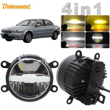 30W Car LED Light Kit Fog Lamp Headlight High Beam Low Beam DRL + Harness Wire H11 12V For Jaguar X-Type (CF1) Saloon 2001-2009