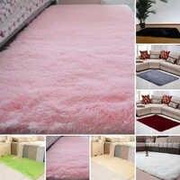Tapis moelleux anti-dérapant Shaggy zone chambre salle de bain tapis salle à manger cuisine maison antidérapant tapis de sol tapis salle de bain