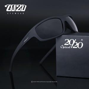 20/20 Optical Brand Design New Polarized Sunglasses Men Fashion Male Eyewear Sun Glasses Travel Fishing Oculos PL66 With Box(China)