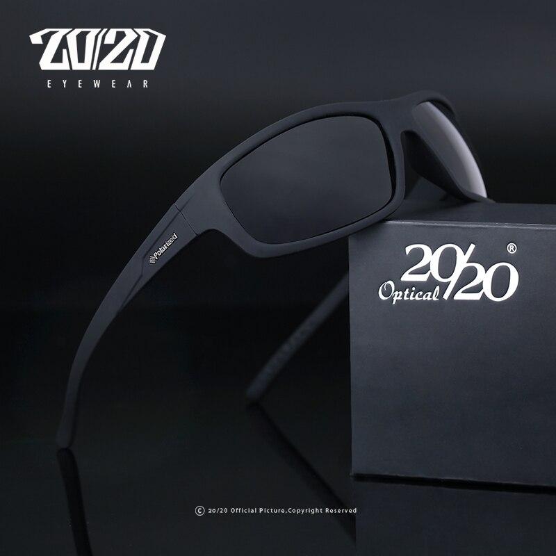 20/20 novo design da marca óptica óculos de sol polarizados moda masculina óculos de sol viagem pesca oculos pl66 com caixa