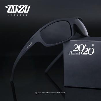 20 20 optyczny marka projekt nowe spolaryzowane okulary mężczyźni moda męskie okulary przeciwsłoneczne podróży wędkowanie óculos PL66 z pudełkiem tanie i dobre opinie 2020 Rectangle Dla dorosłych Z tworzywa sztucznego 37mm Poliwęglan 62mm Round face Long face Square face Oval shape face