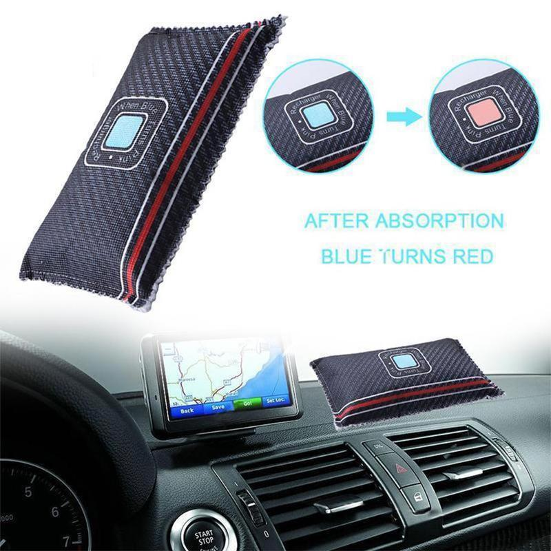 1pcs Reusable Silica Gel Color Changeable Dehumidification Bag Car Dehumidifier Dehumidification And Mildew Desiccant