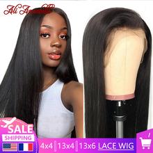 Ali Annabelle brazylijska prosta koronkowa peruka na przód peruki z ludzkich włosów 13 #215 4 13 #215 6 koronkowa peruka z ludzkich włosów peruki zamknięcie koronki przodu peruka tanie tanio long Proste Lace Front wigs CN (pochodzenie) Remy włosy Ludzki włos Pół maszyny wykonane i pół ręcznie wiązanej