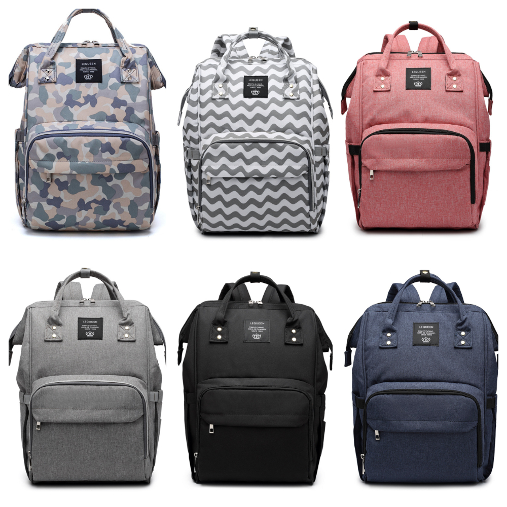 Lequeen Nappy Backpack Bag Mommy Large Capacity Baby Bag Multifunction Waterproof Outdoor Travel Diaper Backpack Diaper Bags
