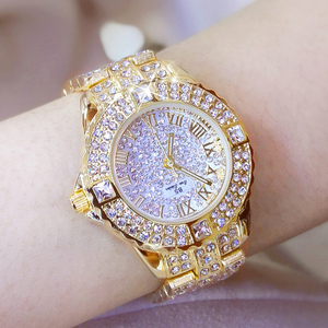 Image 4 - Women Watches Diamond Gold Watch Ladies Wrist Watches Luxury Brand Rhinestone Womens Bracelet Watches Female Relogio Feminino