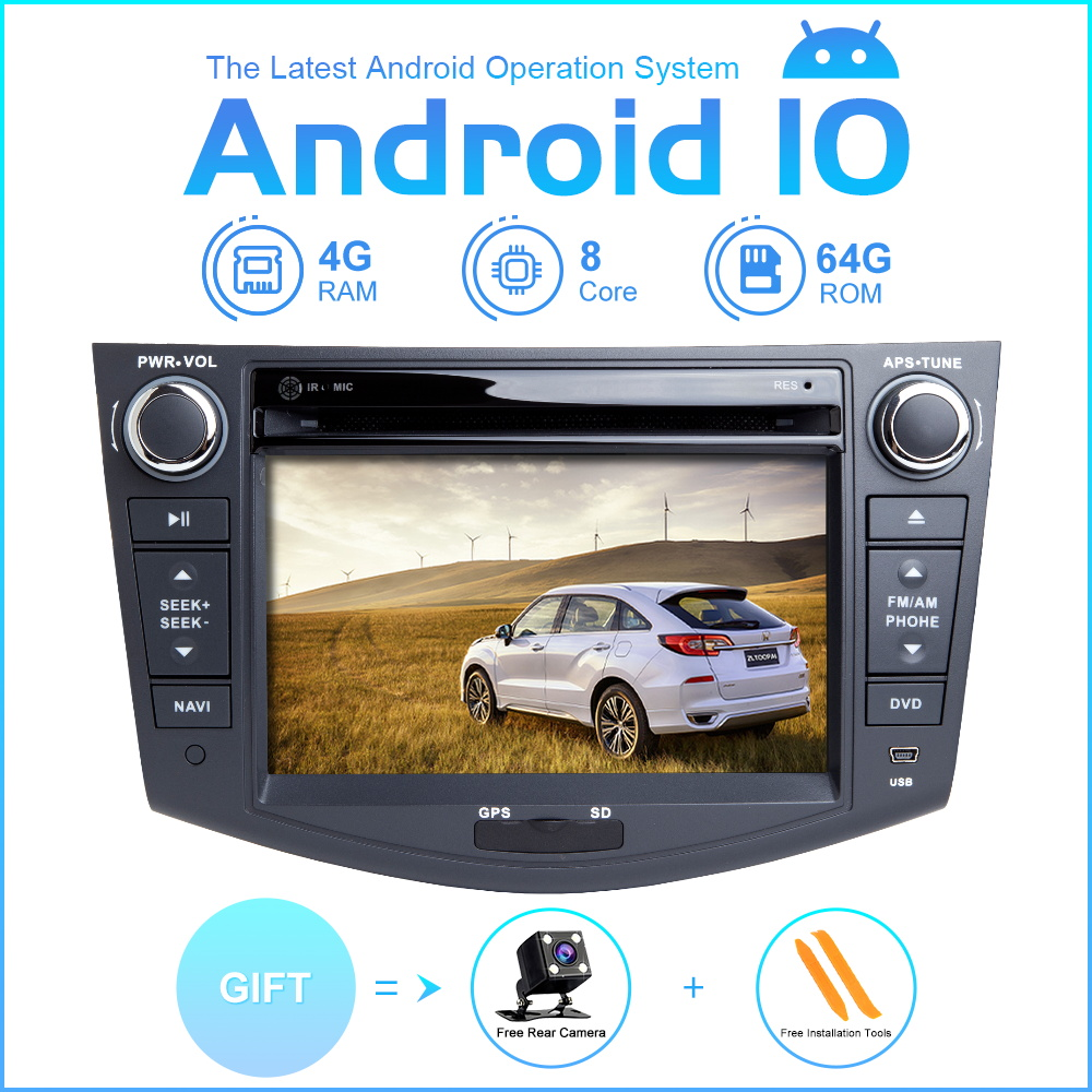 ZLTOOPAI Car Multimedia Player Android 10 For Toyota RAV4 2006-2012 Car GPS Radio Stereo DVD Player 8 Core ROM 64GB image