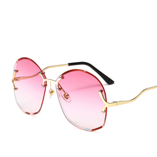 2019 new fashion classic trimming sunglasses colored color lens transparent ocean piece polygon irregular