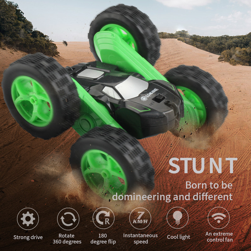 Eachine EC02 1:24 RC Car 2.4G 4CH Stunt Drift Deformation Roll Car 360 Degree Flip Robot Vehicle Models Remote Control Kid Toys