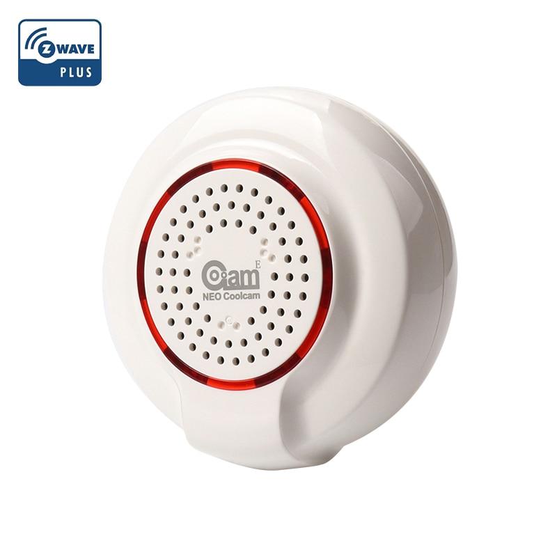 NEO COOLCAM Z-WAVE Plus Siren Alarm Sensor Smart Home EU Frequency 868.4MHz Z Wave Home Automation