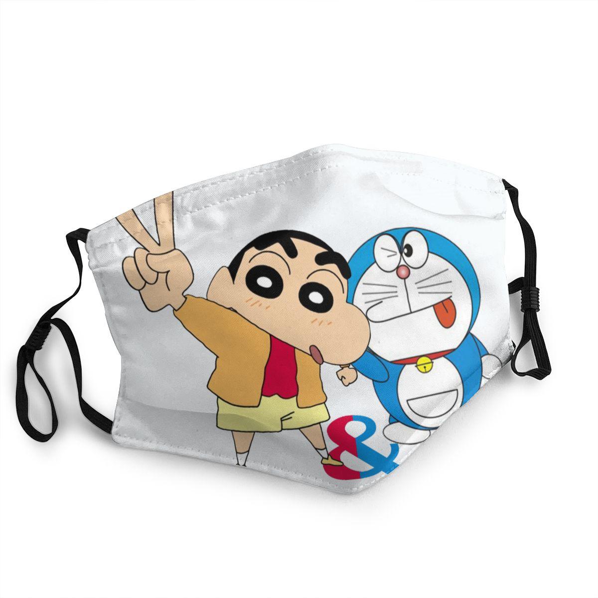 Crayon Shin-chan Reusable Face Mask Doraemon Anti Bacterial Dust Mask Protection Mask Respirator Mouth Muffle