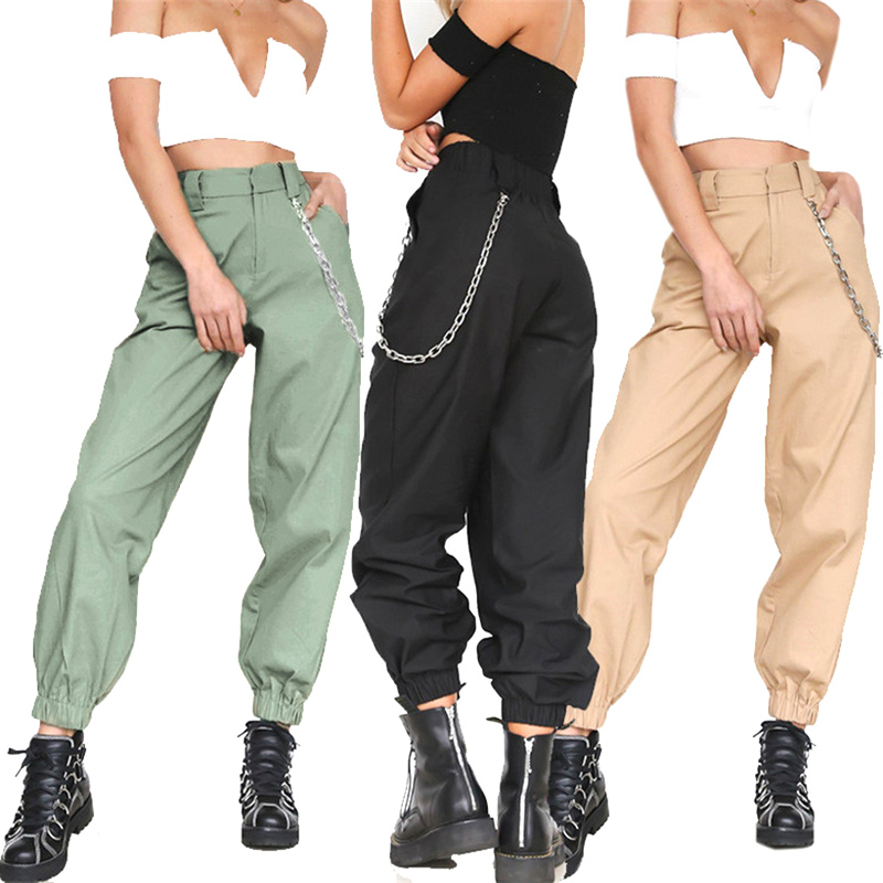 Women Loose Harem Pants High Waist Casual Breathable Female Trousers For Autumn XRQ88