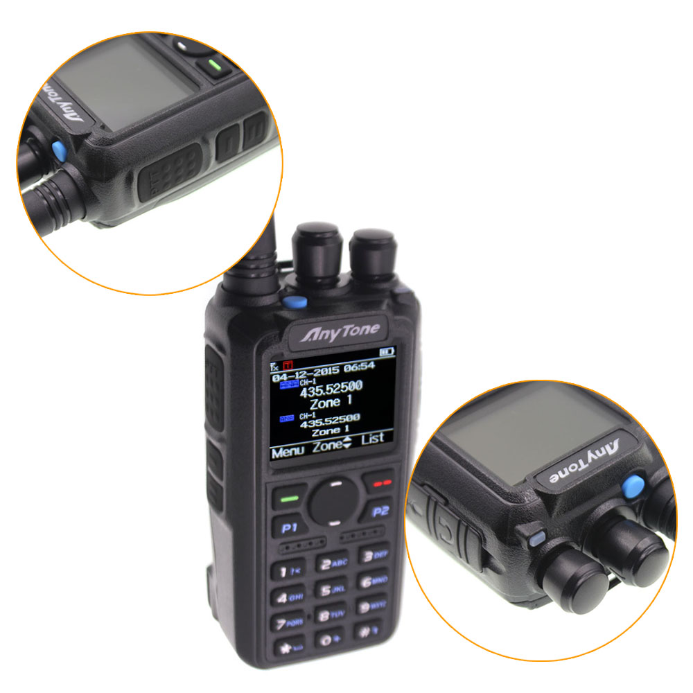 Anytone AT-D878UV Plus DMR Radio VHF 136-174MHz UHF 400-470MHz GPS APRS Bluetooth Walkie Talkie Ham Radio Station With a Cable 2