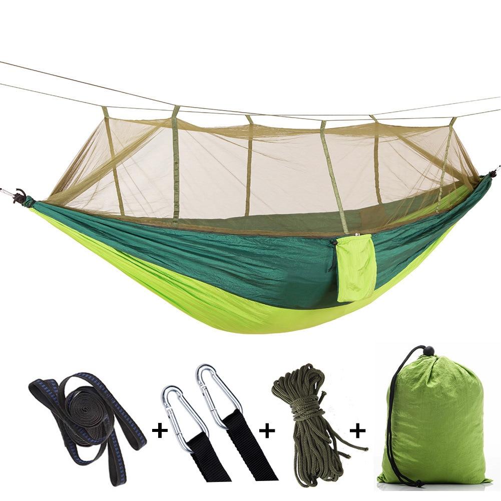Free Eagle Double Mosquito Net Hammock Parachute Cloth Hammock Camping Swing