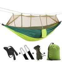 Freies adler Doppel Moskito Net Hängematte Fallschirm Tuch Hängematte Camping Schaukel auf