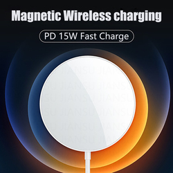 For Magsafe 15W Qi Wireless Charger Fast Wireless Charging Pad Universal Phone Charger For iPhone 12 Pro 11 X XR 8 Huawei Xiaomi