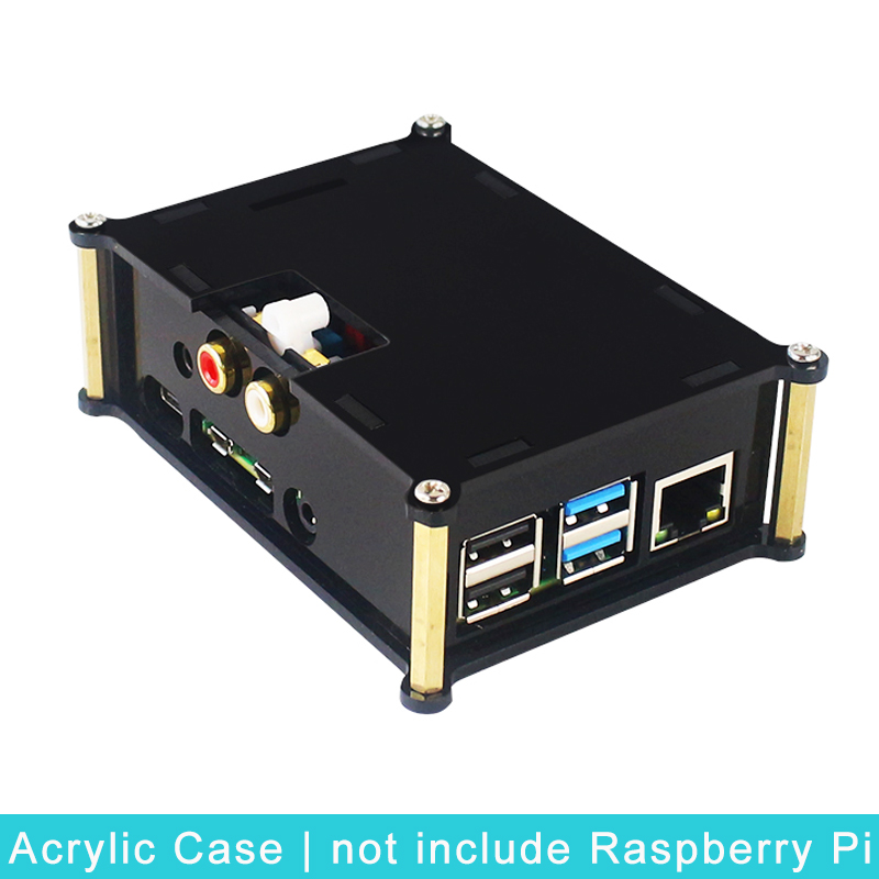 Acrylic Case For Raspberry Pi 4 Model B PiFi DAC+ V2.0 Sound Card Box Shell For Raspberry Pi 4 DIFI DAC Extension Audio Board