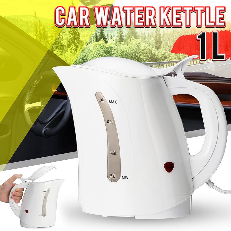 Large Capacity 1000ML Car Kettle Portable Auto Car Water Heater Warmer Travel Mains Kettle 12V For Coffee Hot Tea Home Car