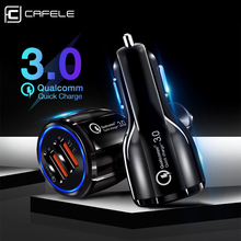 Cafele QC3.0 Car Phone Charger For iPhone X Xiaomi 9 Quick Charge Mobile Dual USB Huawei P30