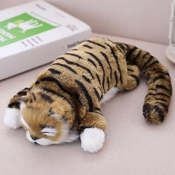 Śliczne realistyczne imitacja kota zabawki lalki pluszowe zabawki dla chłopców dziewcząt z dźwiękiem dzieci udawaj zabawki elektroniczne 2020 gorąca sprzedaż #38 tanie i dobre opinie Pp bawełna 2-4 lat Cat Toy Zwierzęta i Natura toys juguetes brinquedos