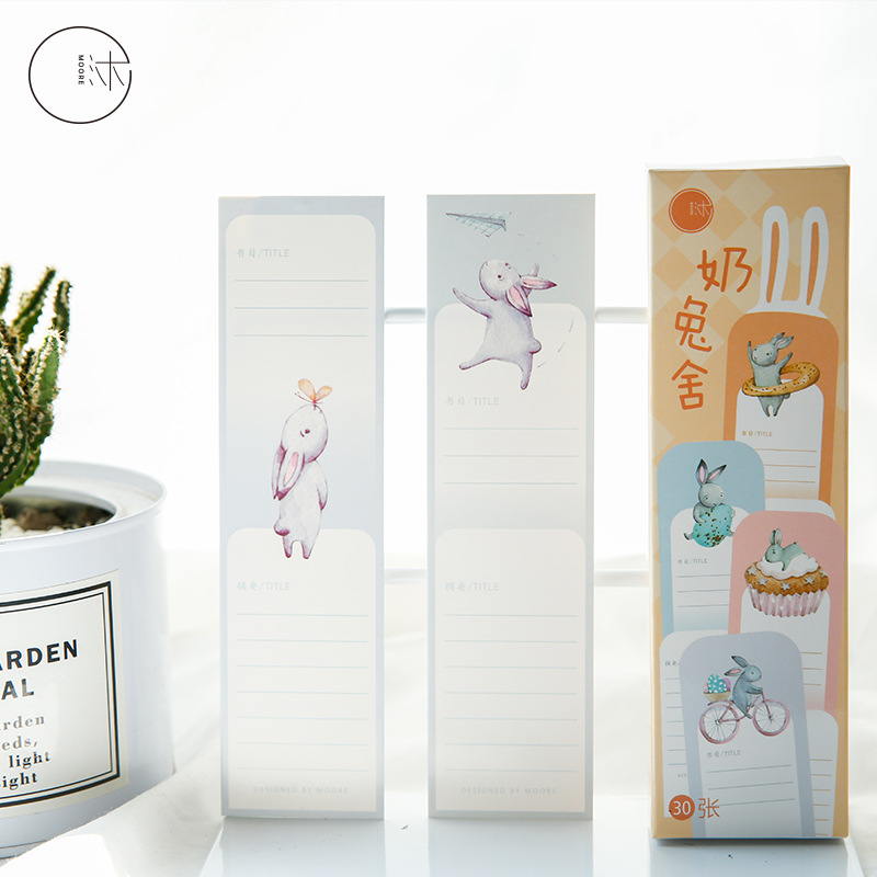 30pcs/1 Lot Cartoon Rabbit Paper Bookmarks Bookmarks For Books/Share/book Markers/tab For Books/stationery