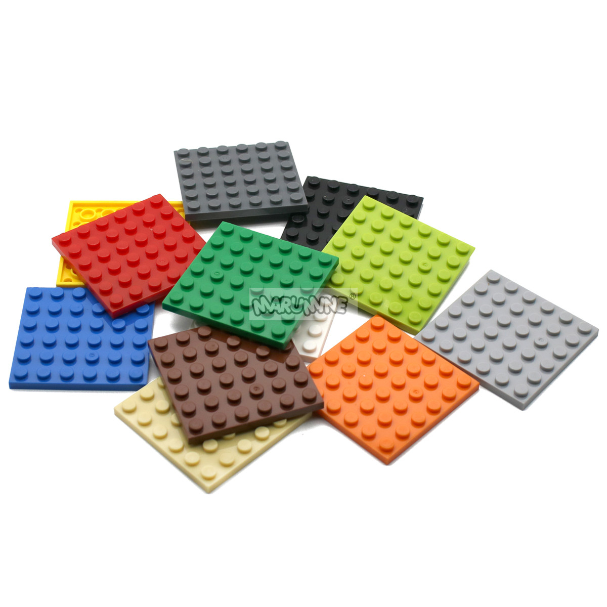 MARUMINE 6 x 6 plate 36 Dots Particles Building Blocks Plate 3958 Bricks Set Boys Girls DIY Classic Educational Children Toys