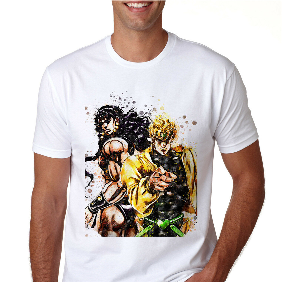 Jojo'S Bizarre Adventure Anime T-<font><b>Shirt</b></font> <font><b>Unisex</b></font> Cotton <font><b>Tee</b></font> <font><b>Shirt</b></font> <font><b>Manga</b></font> Gift N1258 <font><b>Unisex</b></font> Men Women <font><b>Tee</b></font> <font><b>Shirt</b></font> image