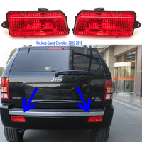 Tail lights Red Rear Bumper lights for Jeep Grand Cherokee 2005 2006 2007 2008 2009 2010 Brake lamps stop lamps Warning Lights