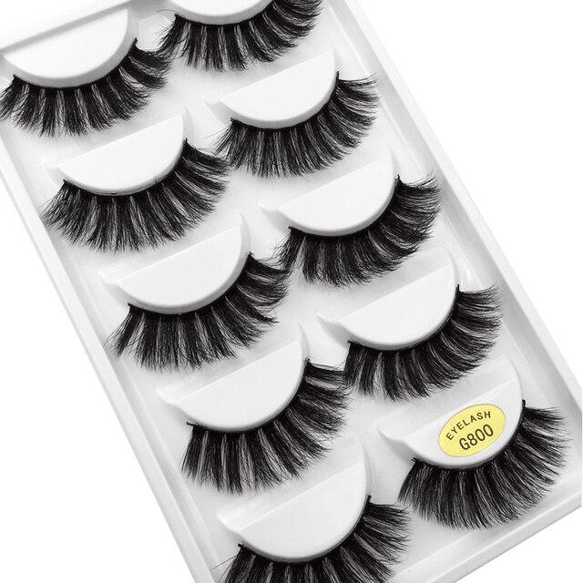YSDO Lashes 1 box mink eyelashes natural long 3d mink lashes hand made false lashes plastic cotton stalk makeup false eyelash G8 4