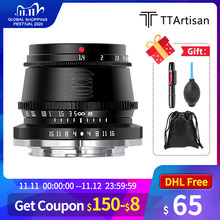 Ttartisan 35Mm F1.4 APS-C Formaat Vaste Handmatige Focus Lens F1.4 Minimum F16 Frame Voor Fuji X Sony E-mount Camera 'S NEX-3 A3000