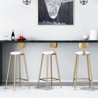 Nordic Goldene Bar Stuhl Dessert Shop Cafe Restaurant Freizeit Stuhl Bar Stuhl und Bar Bench Verschiedenen Farben und Verschiedenen Höhen-in Bar-Stühlen aus Möbel bei