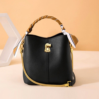 Fashion Women shoulder bag real leather Bucket bag Korea style women bag