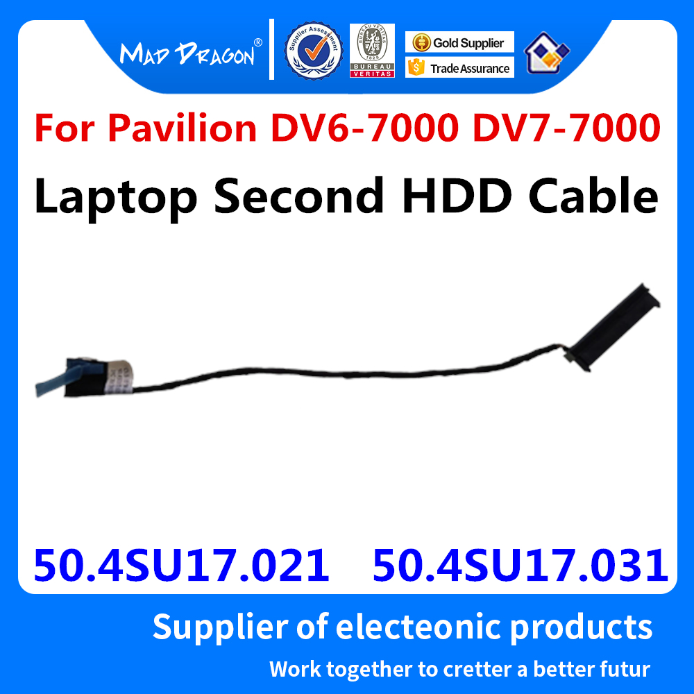 New Original Laptop Second HDD Cable Hard Drive Connector Repalcement HP Pavilion DV7-7000 DV6-7000 50.4SU17.021 / 50.4SU17.031