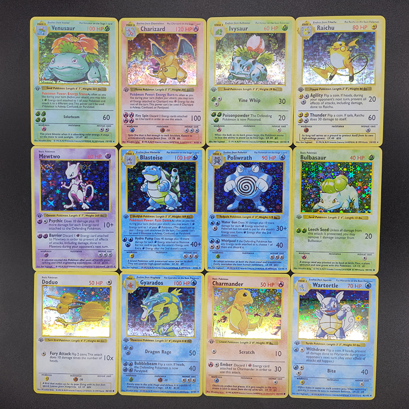 Pokemon 55pcs/set Charizard Pikachu DIY Reproduction Card Super Game Collection Anime Cards Toys for Children Christmas Gift