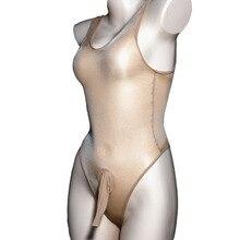 Для мужчин сексуальное женское белье прозрачная глянцевая Гей пениса Оболочка мальчики купальник Тедди обтягивающие боди Фетиш одежда Кре...