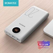 ROMOSS – batterie externe Portable SW20 Pro Quick Charge 3.0, 20000mAh, USB C, pour Xiaomi, iPhone, Huawei