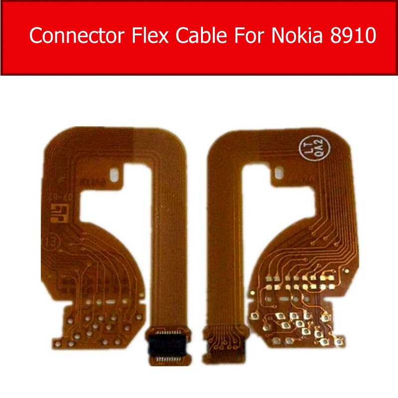 USB Charging Port Connector Flex Cable For Nokia 8910 Connector Hold Charger Dock Connector Flex Cable Replacement Parts